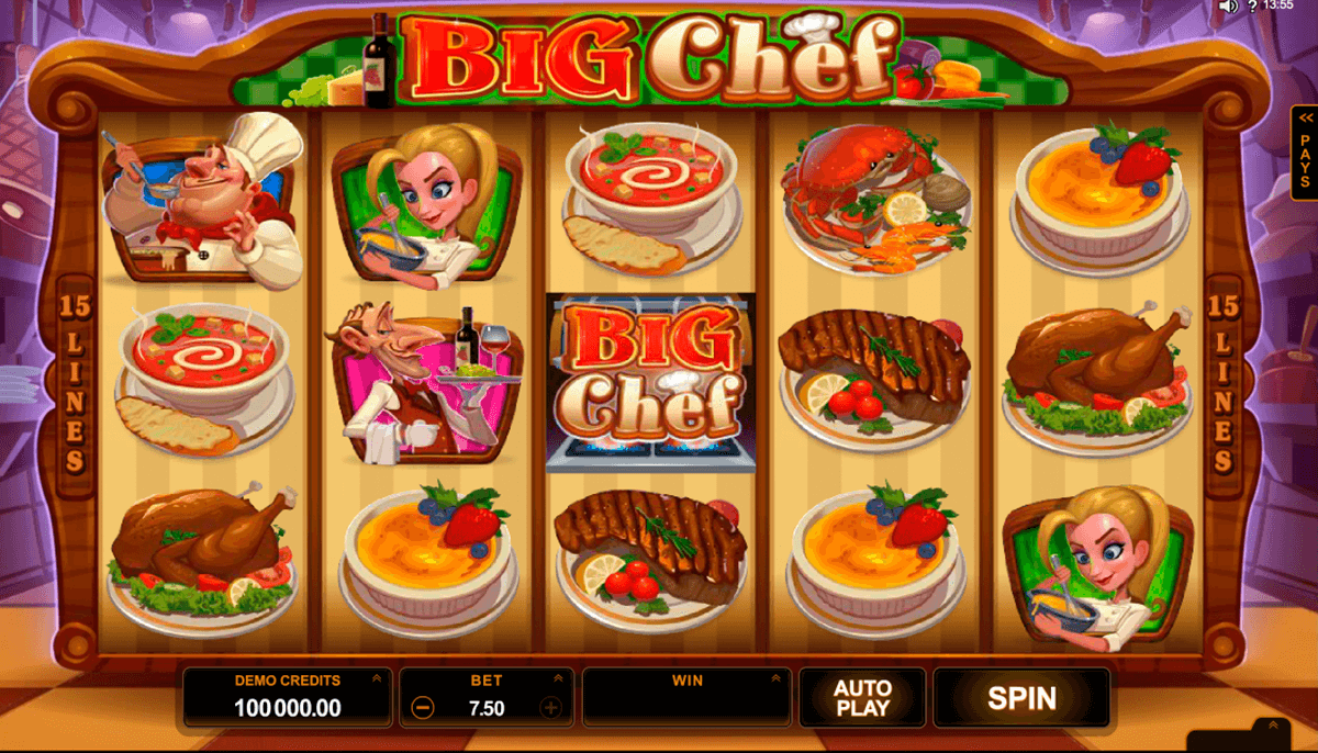 big chef microgaming online gra zadarmo