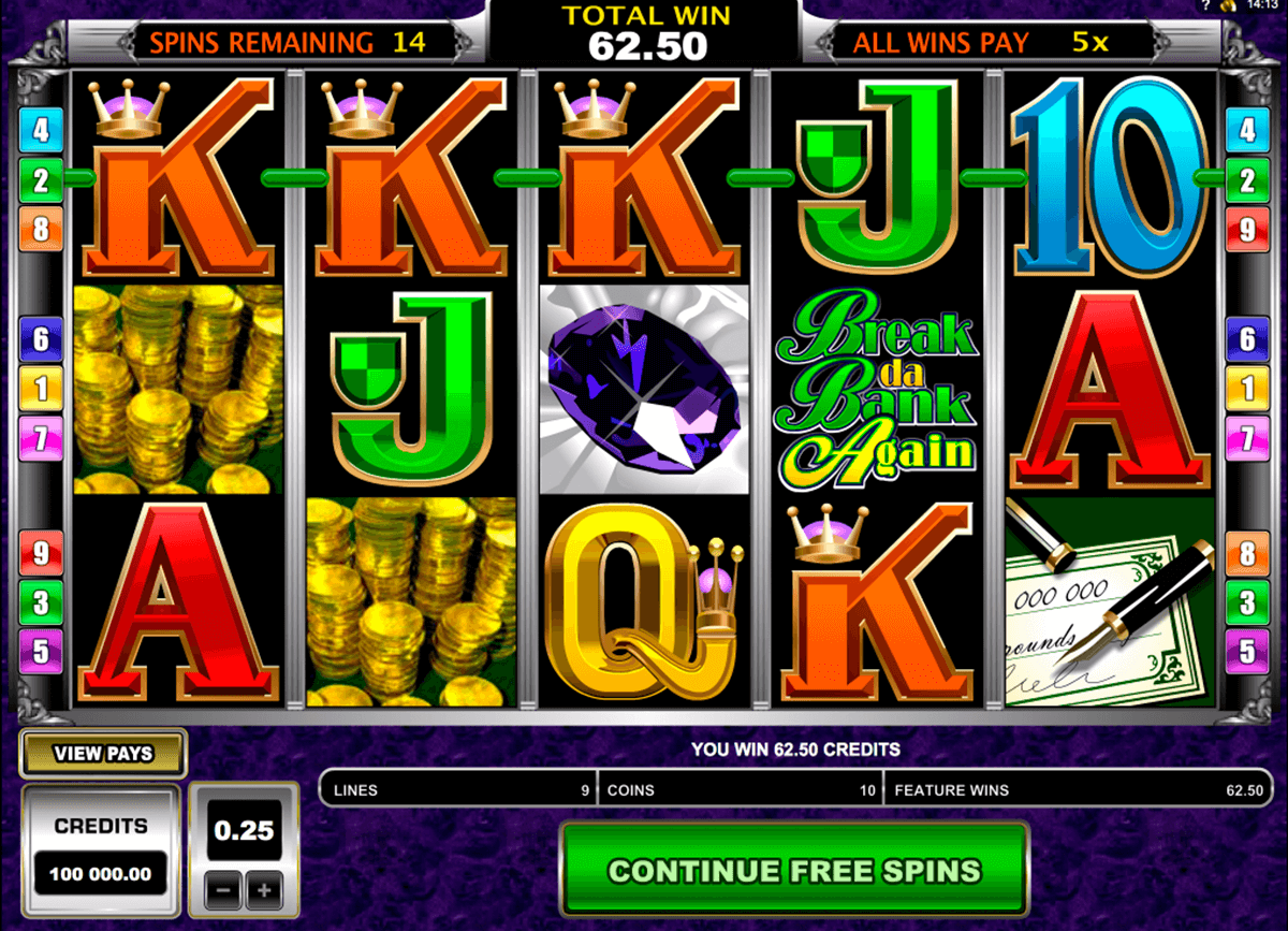 break da bank again microgaming online gra zadarmo
