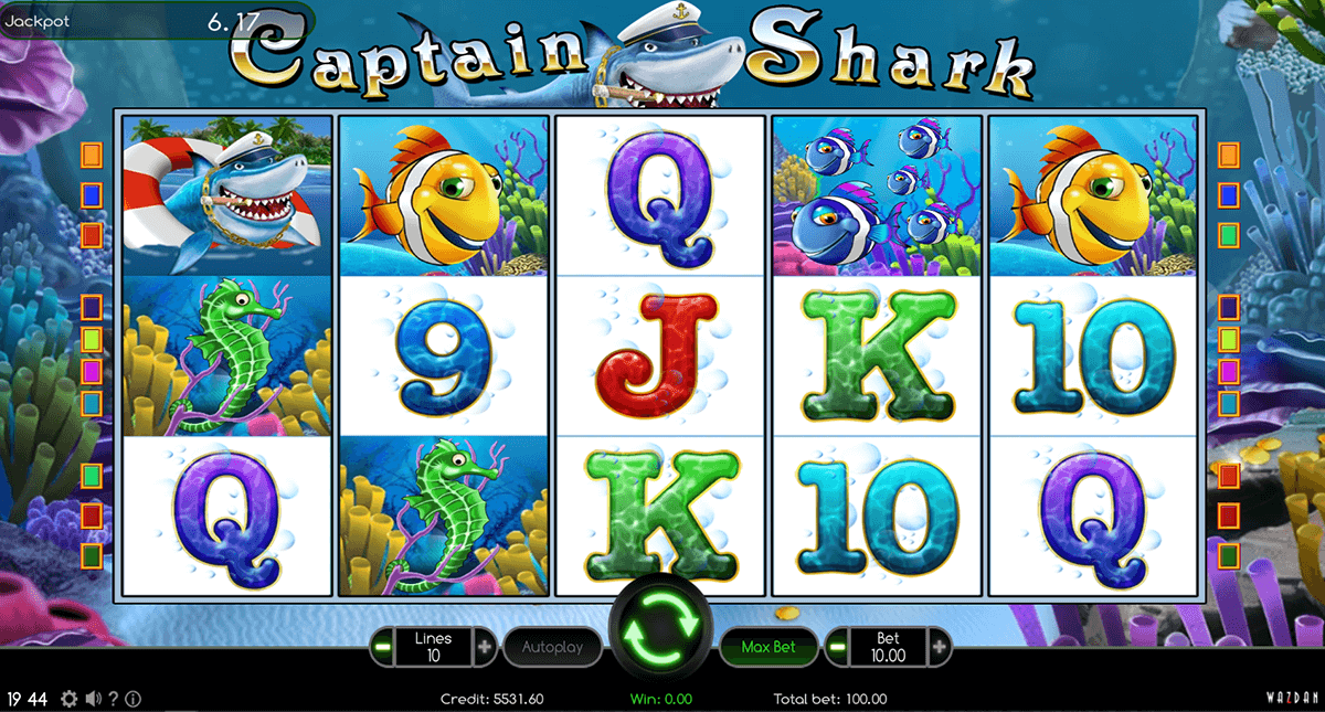 captain shark wazdan gra automat