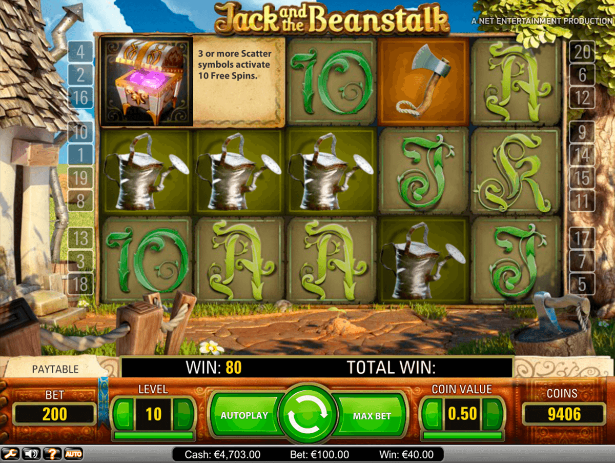 jack and the beanstalk netent online gra zadarmo