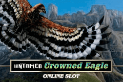 logo untamed crowned eagle microgaming gry avtomaty
