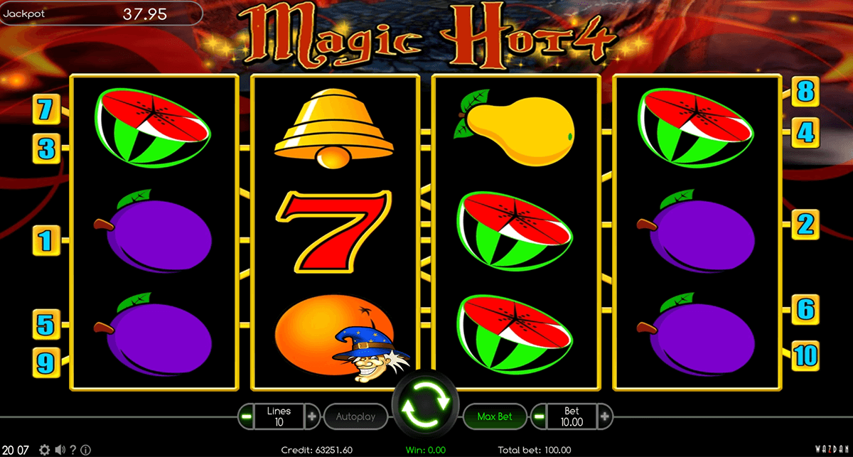 magic hot 4 wazdan gra automat