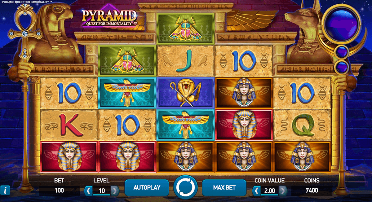 pyramid quest for immortality netent online gra zadarmo
