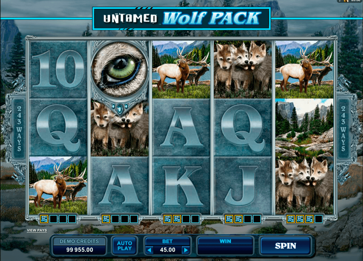 untamed wolf pack microgaming online gra zadarmo