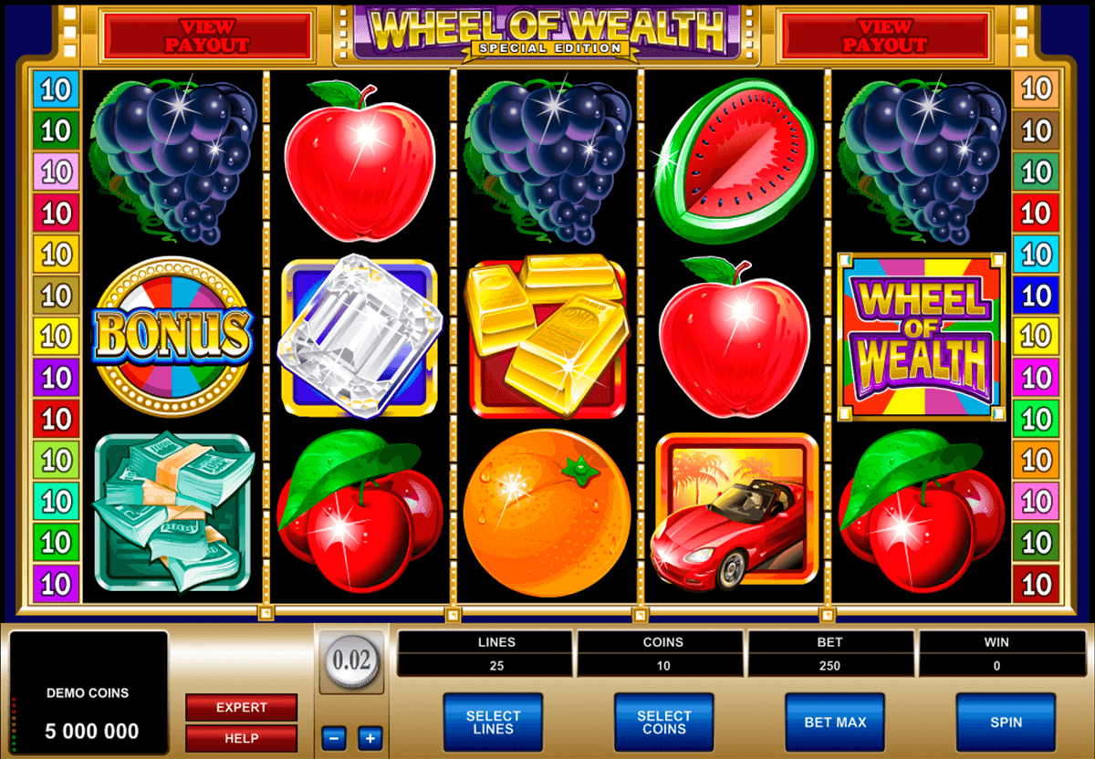 wheel of wealth special edition microgaming gra automat
